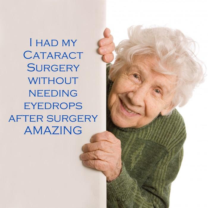 I had my cataract surgery without needing eyedrops after surgery